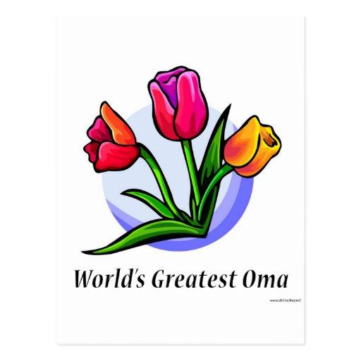Oma más grande del mundo tarjeta postal