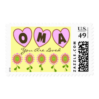 """""""Oma You Are Loved""""---Mother's Day Gifts Postage Stamp"""