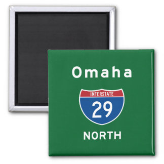 Omaha 29 imán cuadrado