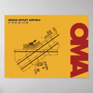 Omaha Airport (OMA) Diagram Poster