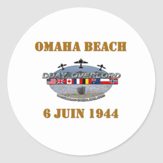 Omaha Beach 1944 Classic Round Sticker