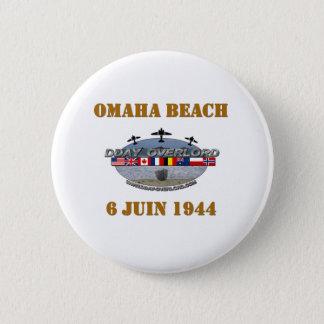 Omaha Beach 1944 Pinback Button