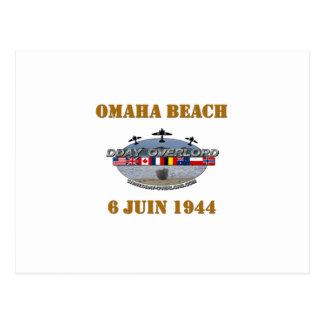 Omaha Beach 1944 Postcard