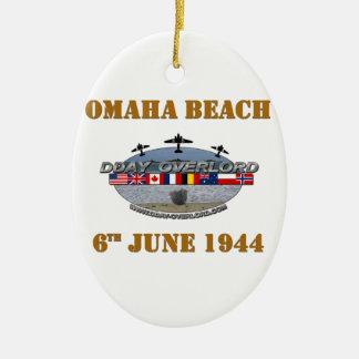 Omaha Beach 6th June 1944 Ceramic Ornament