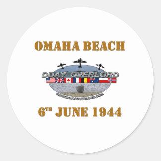 Omaha Beach 6th June 1944 Classic Round Sticker