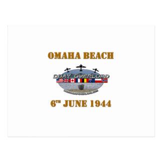 Omaha Beach 6th June 1944 Postcard
