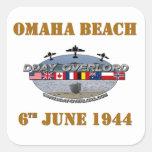 Omaha Beach 6th June 1944 Square Sticker