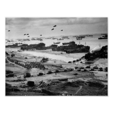 Omaha Beach Resupply - Normandy Invasion - 1944 Poster
