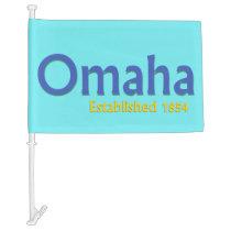 Omaha Car Flag