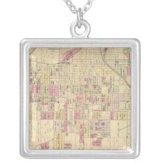 Omaha City, Nebraska Square Pendant Necklace