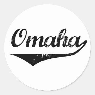 Omaha Classic Round Sticker
