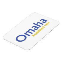 "Omaha Established 3""x4"" Flexible Photo Magnet"