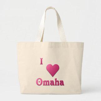 Omaha -- Hot Pink Large Tote Bag