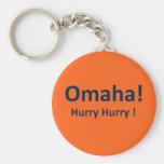 Omaha Hurry Hurry Keychain Peyton Manning Denver