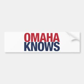 Omaha Knows Bumper Sticker