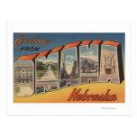 Omaha, letra ScenesOmaha, NE de NebraskaLarge Postales