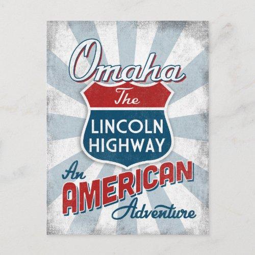 Omaha Lincoln Highway Vintage America Nebraska Postcard