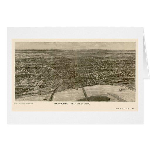 Omaha, mapa panorámico del NE - 1906 Tarjeta De Felicitación