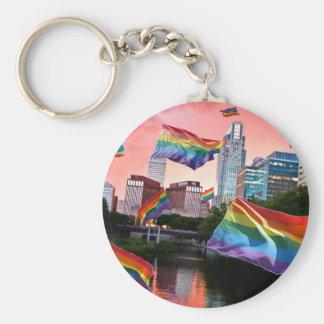 Omaha NE Flying Pride Keychain