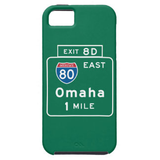Omaha, NE Road Sign iPhone SE/5/5s Case
