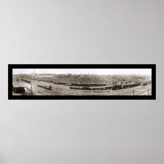 Omaha NE Stockyards Photo 1916 Print