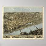 Omaha Nebraska 1868 Antique Panoramic Map Print