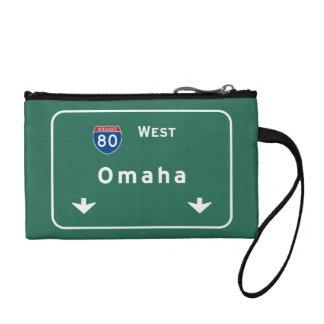 Omaha Nebraska ne Interstate Highway Freeway : Change Purse