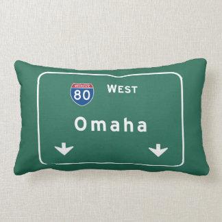 Omaha Nebraska ne Interstate Highway Freeway : Lumbar Pillow