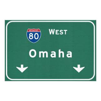 Omaha Nebraska ne Interstate Highway Freeway : Photo Print