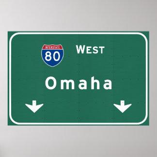 Omaha Nebraska ne Interstate Highway Freeway : Poster