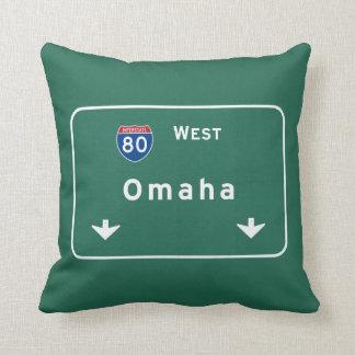Omaha Nebraska ne Interstate Highway Freeway : Throw Pillow