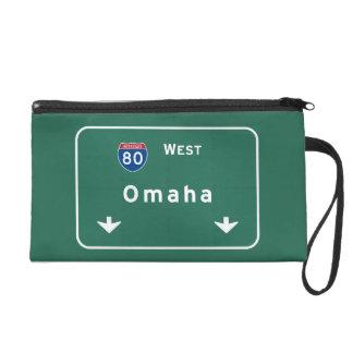 Omaha Nebraska ne Interstate Highway Freeway : Wristlet Purse