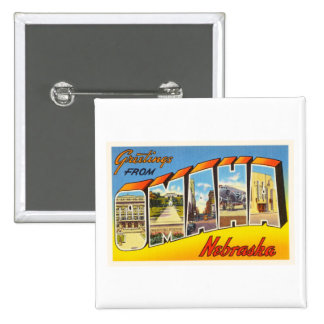 Omaha Nebraska NE Old Vintage Travel Souvenir Button