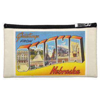 Omaha Nebraska NE Old Vintage Travel Souvenir Cosmetic Bag