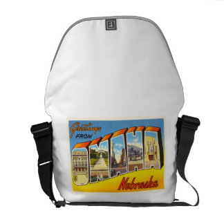 Omaha Nebraska NE Old Vintage Travel Souvenir Courier Bag