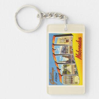 Omaha Nebraska NE Old Vintage Travel Souvenir Keychain