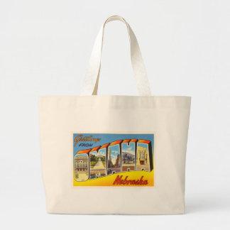 Omaha Nebraska NE Old Vintage Travel Souvenir Large Tote Bag