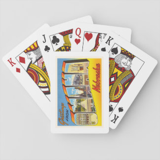 Omaha Nebraska NE Old Vintage Travel Souvenir Playing Cards