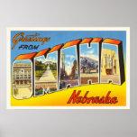 Omaha Nebraska NE Old Vintage Travel Souvenir Poster