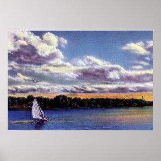 Omaha Nebraska Sailing on Carter Lake Posters