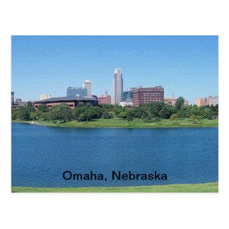 Omaha, Nebraska Skyline on Canvas Postcard
