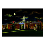 Omaha Nebraska University of Omaha at Night Print
