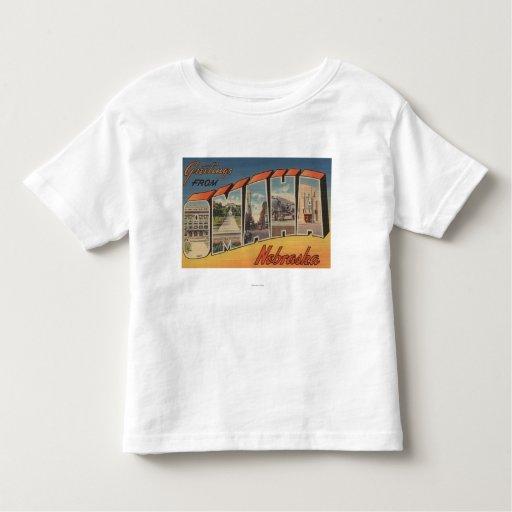 Omaha, NebraskaLarge Letter ScenesOmaha, NE Toddler T-shirt