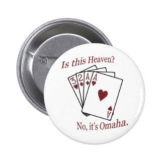 Omaha Poker Pinback Button