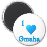 Omaha -- Sky Blue Fridge Magnets