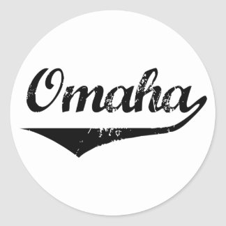 Omaha Round Stickers