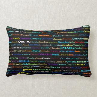 Omaha Text Design I Lumbar Pillow