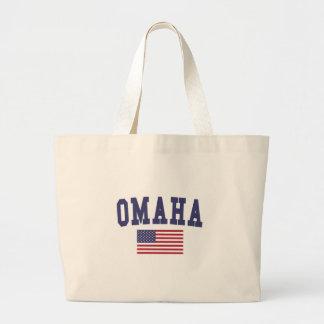 Omaha US Flag Large Tote Bag