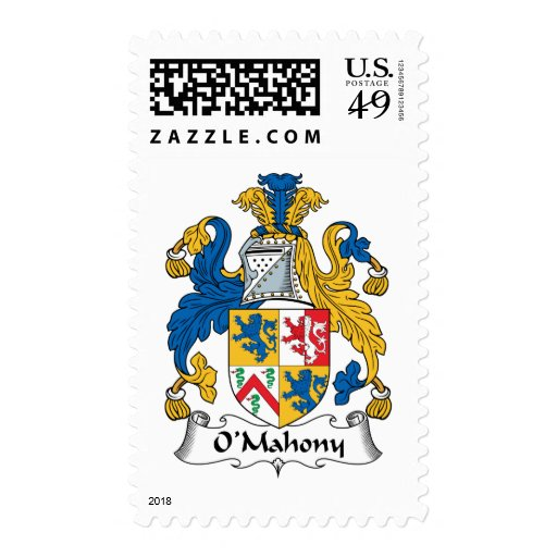 O'Mahony Family Crest Postage Stamp
