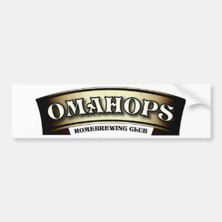 OmaHops ribbon logo bumper sticker Car Bumper Sticker